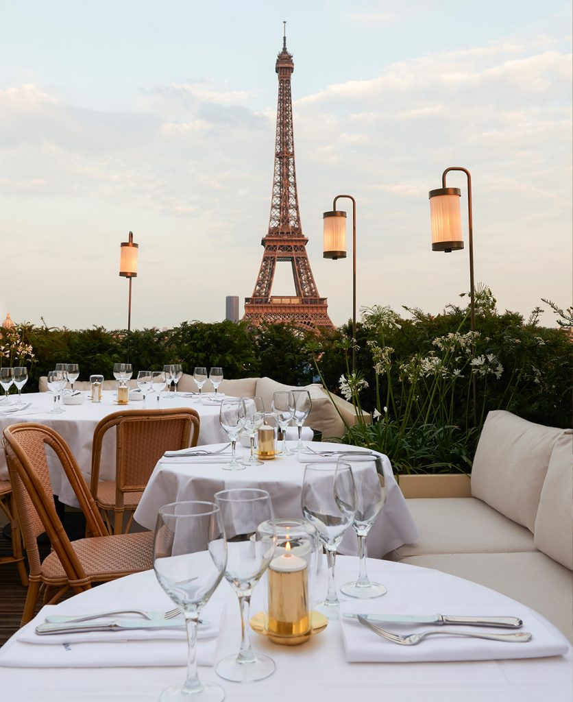 Terrace of Girafe Paris