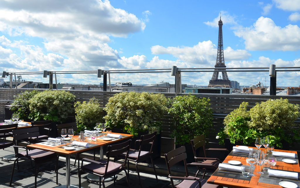 Restaurants with View of Eiffel Tower #2 - Maison blanche terrace
