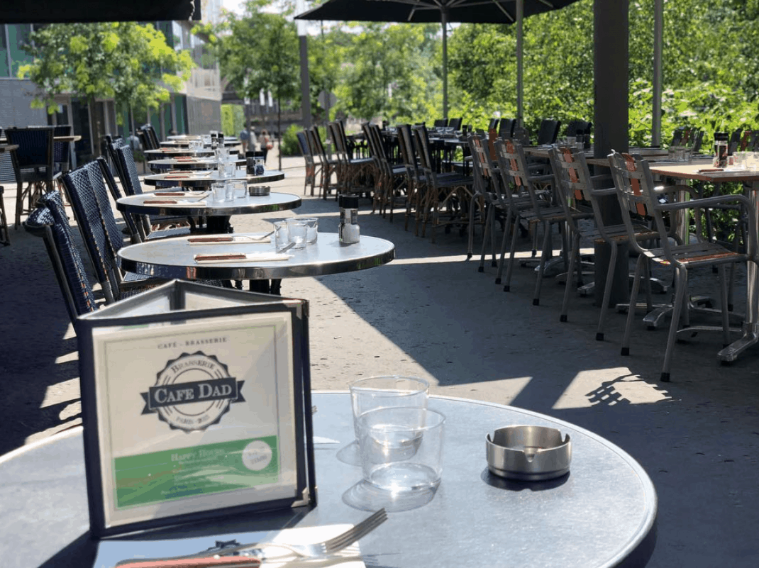 Best outdoor cafe in Paris - Cafe Dad