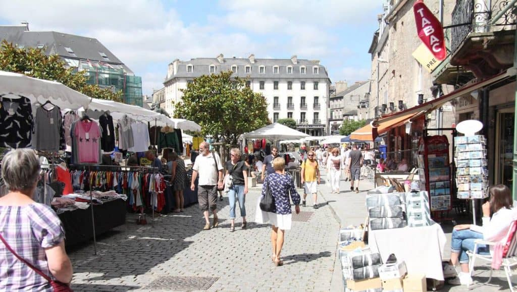 Dinan, A Quanit Medieval Town In Brittany - Local Markets