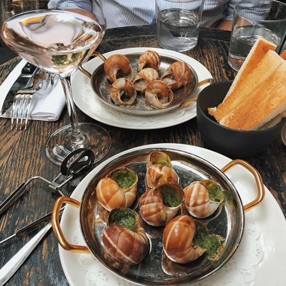 French Food in Paris - Escargots