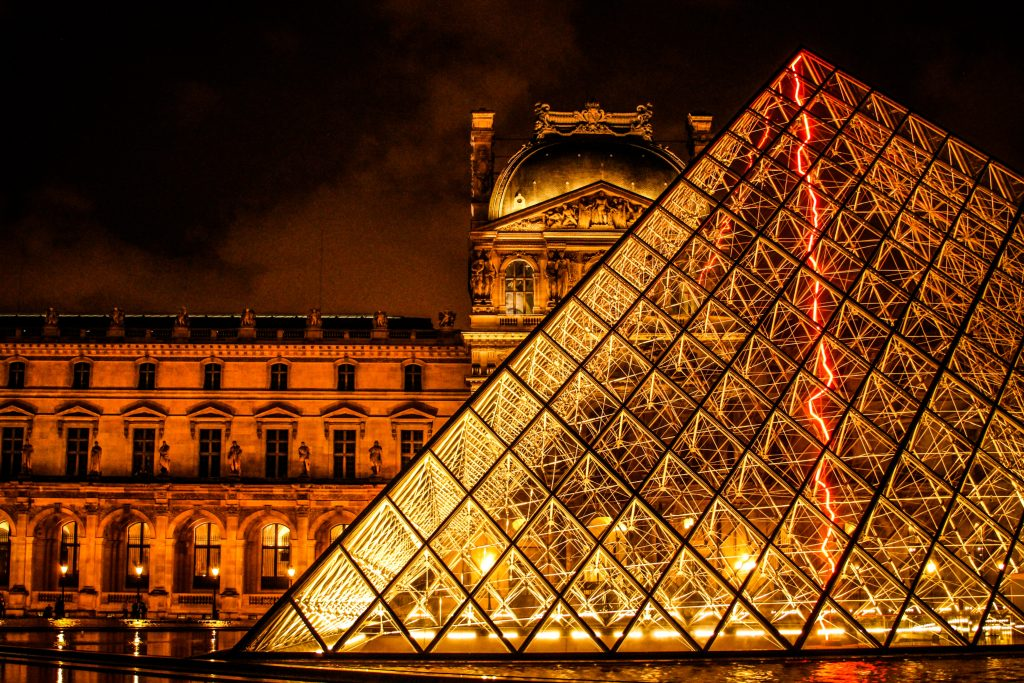 what to see at the Louvre: the Louvre at night