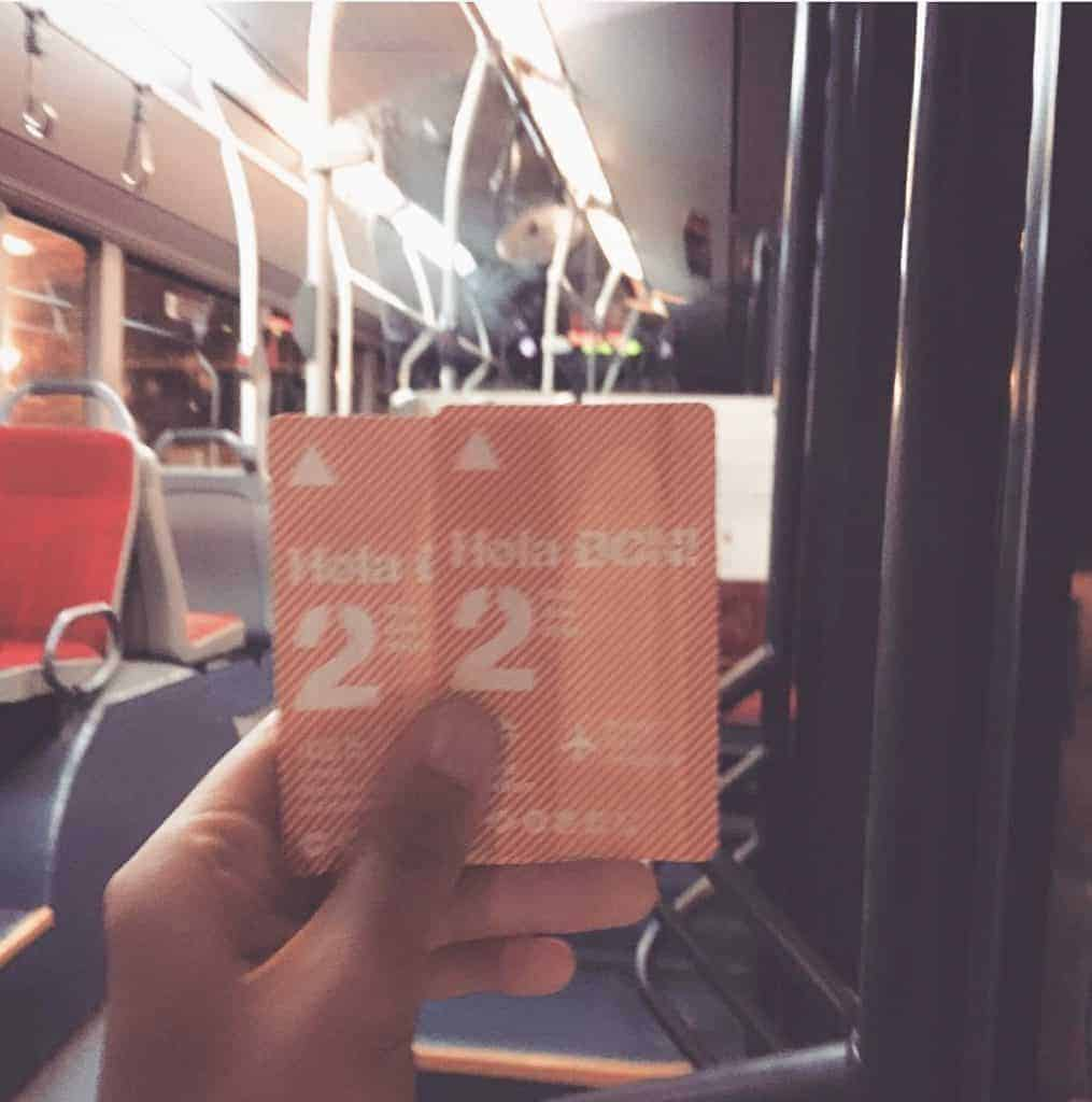 Public Transportation In Barcelona - Bus Ticket