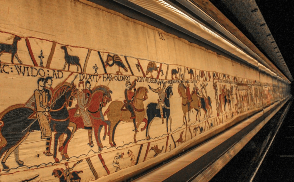 Bayeux tapestry museum in Bayeux France