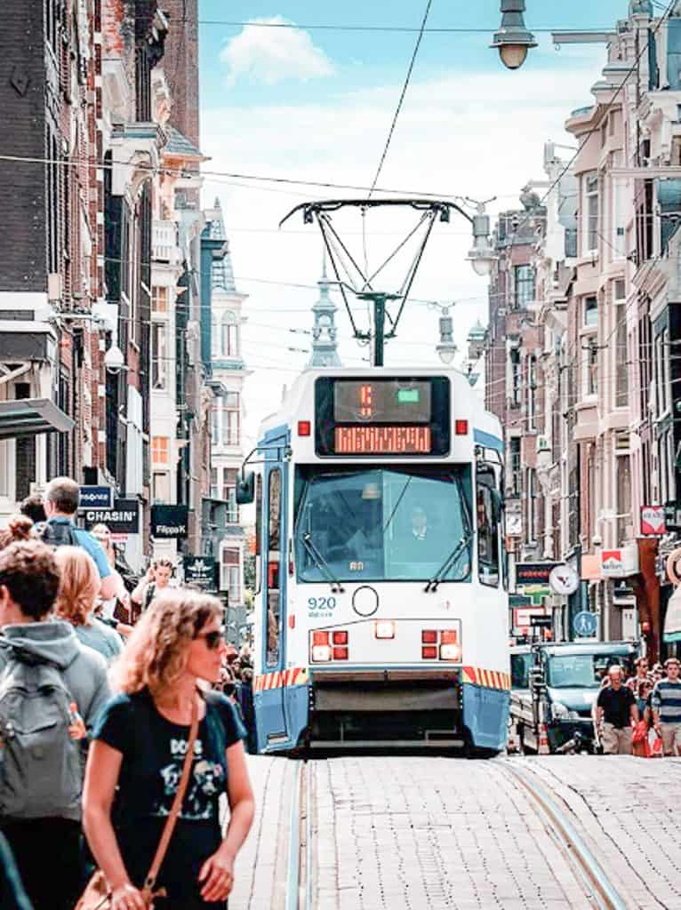 Public Transportation In Amsterdam - Trams
