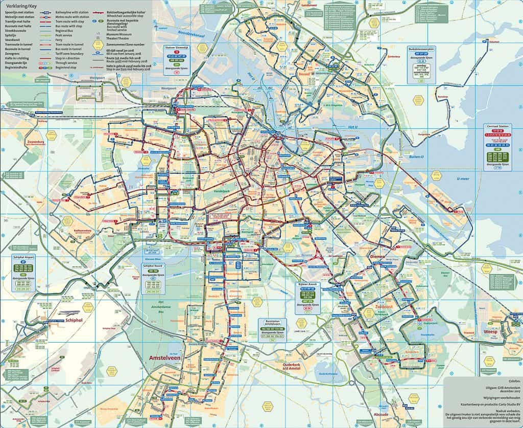 Public Transportation In Amsterdam - Metro Network In Amsterdam