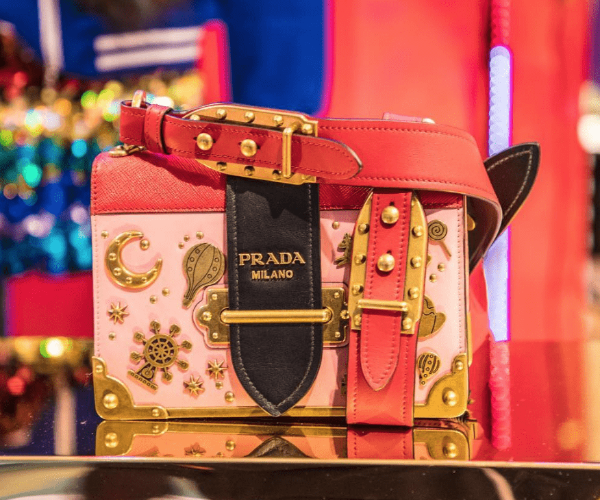 Prada limited edtion bag only available at Galeries Lafayette