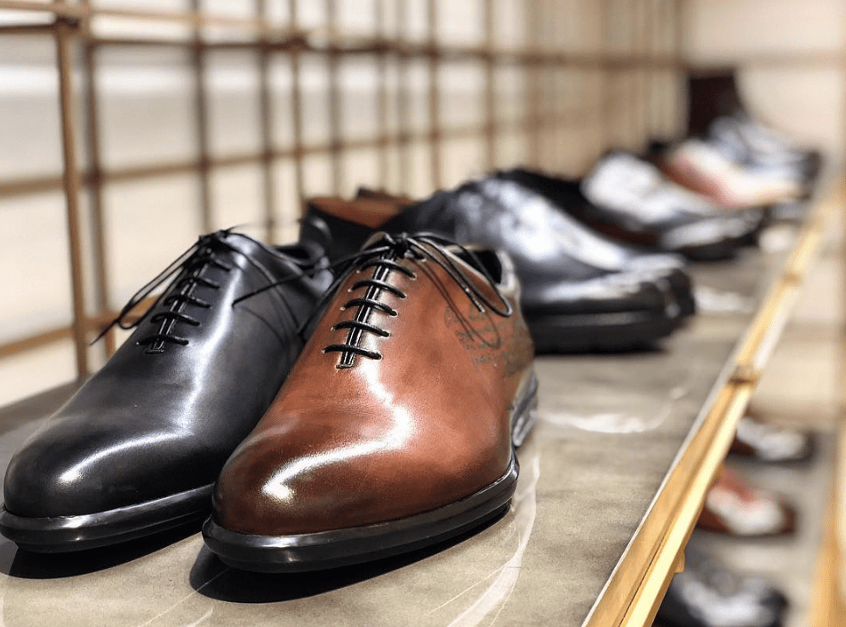 Berlutti shoes at Galeries Lafayette