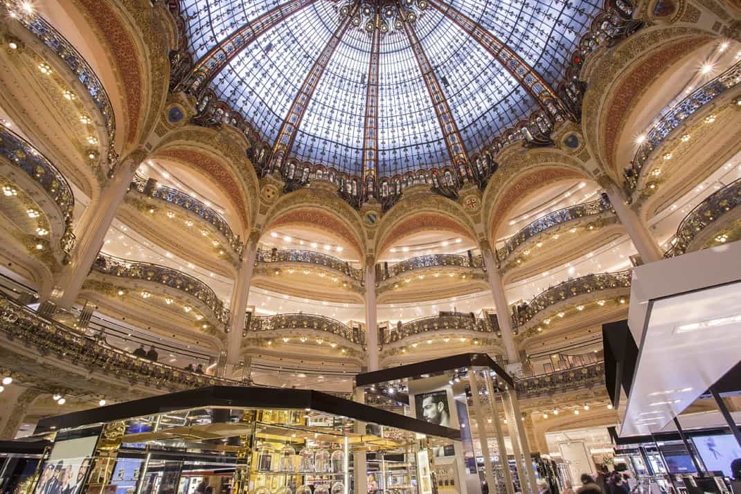 View inside Galeries Lafayette department store