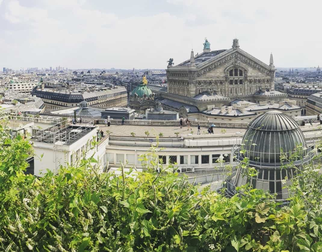 Galeries Lafayette rooftop view