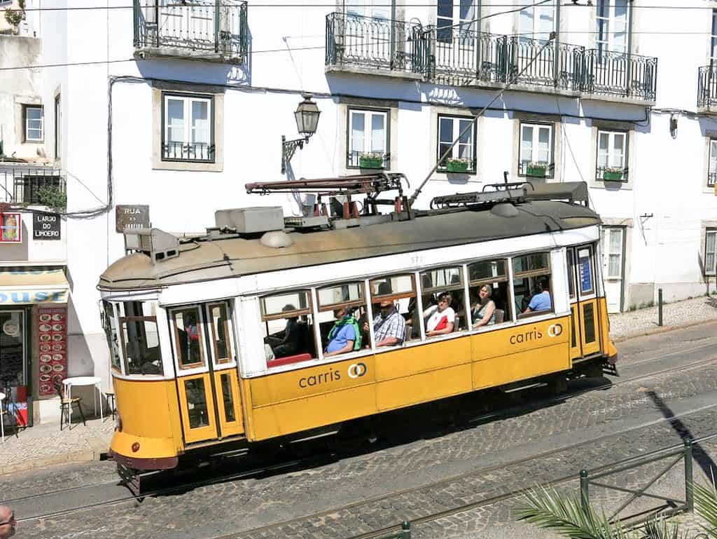 Public Transportation In Lisbon - Tram 28