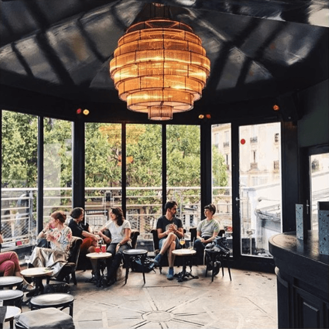 Enjoy Best View From Roof Tops In Paris - Brasserie Barbes Party Mode