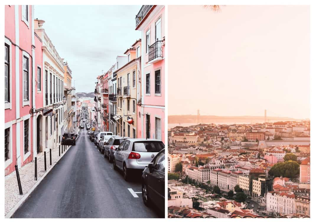 Lisbon' most Instagrammable spots: pink Rua Nova do Carvalho View