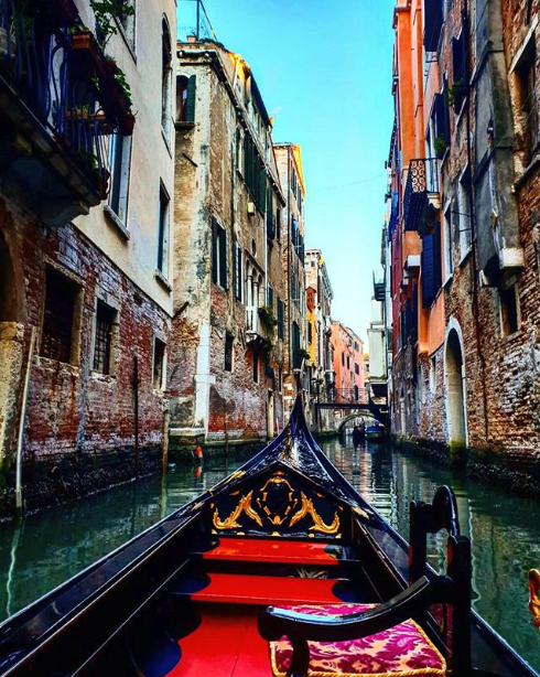 View from a Gondola in Venice