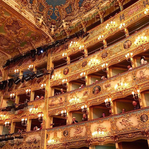 View of inside la Fenice Venice