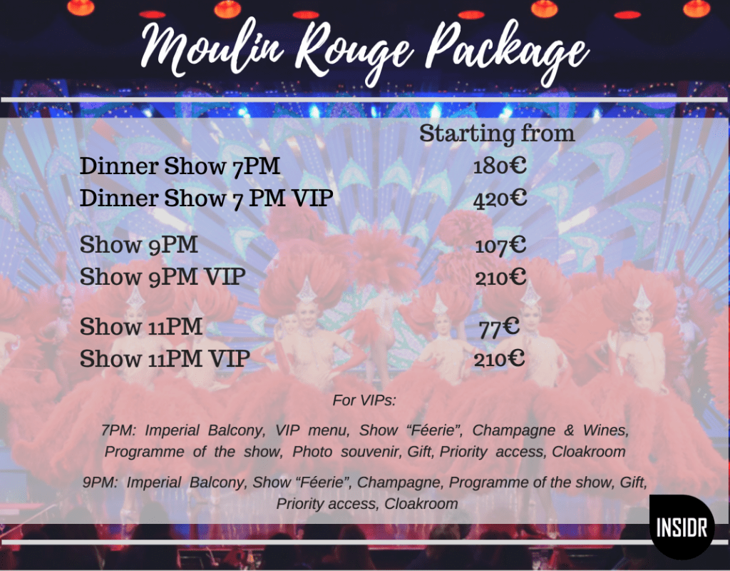 Paris Moulin Rouge VIP package