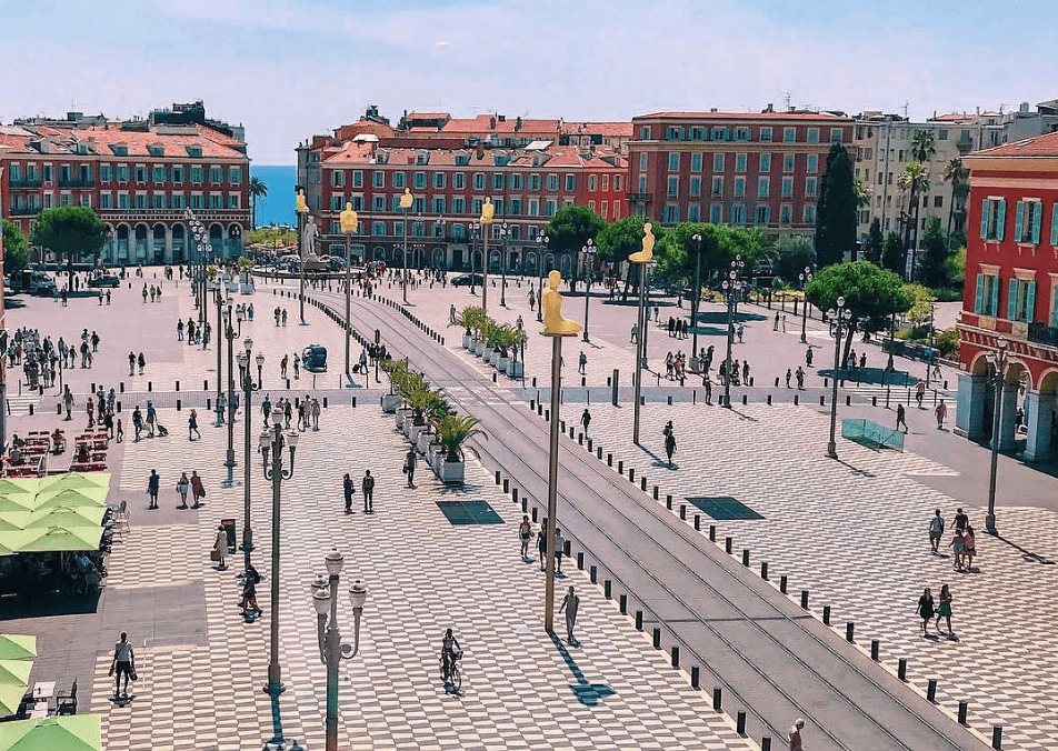 Visiting Nice - Place Masséna