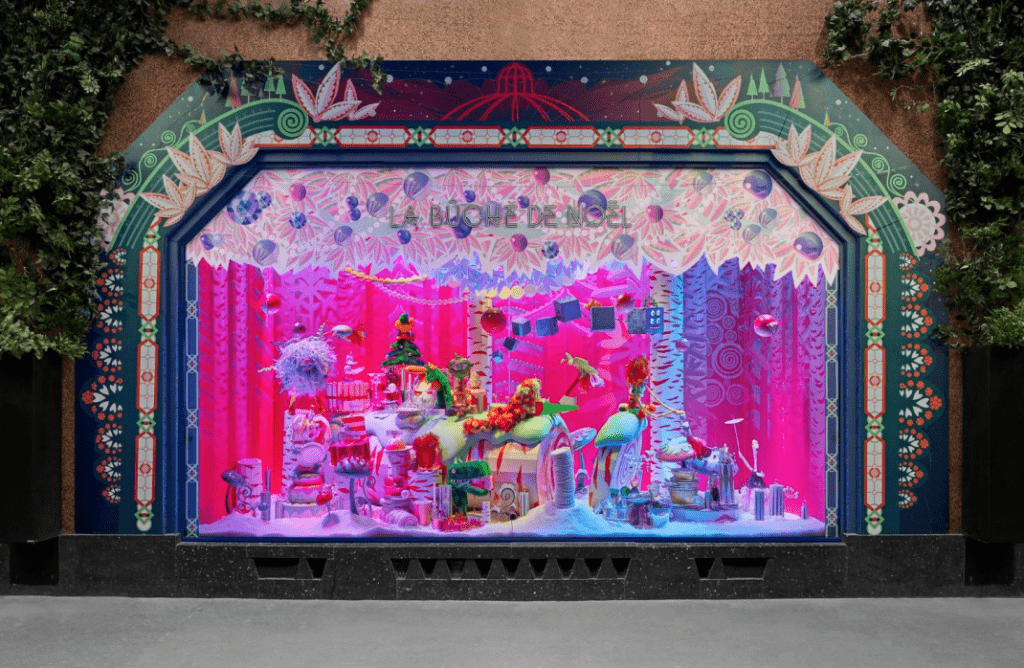 Christmas & New Year Trip In Paris - CHRISTMAS WINDOW DISPLAYS IN GALERIES LAFAYETTE
