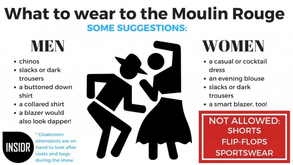Paris Moulin Rouge dress code