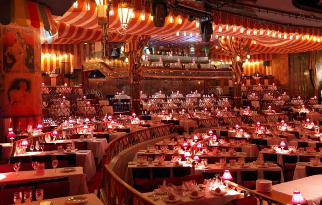 Best Shows In Paris - Moulin Rouge Restaurant