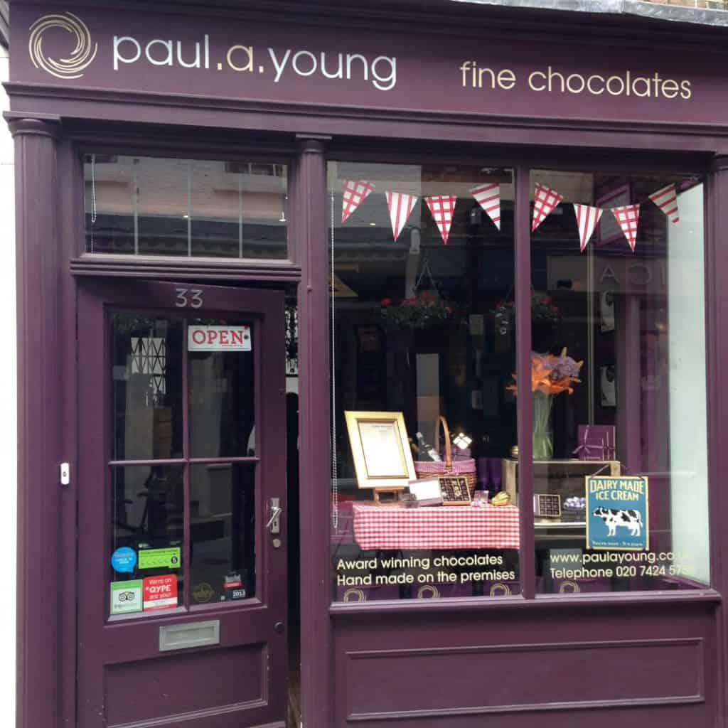Camden Passage: Local Shops - Paul A Young Chocolate Shop