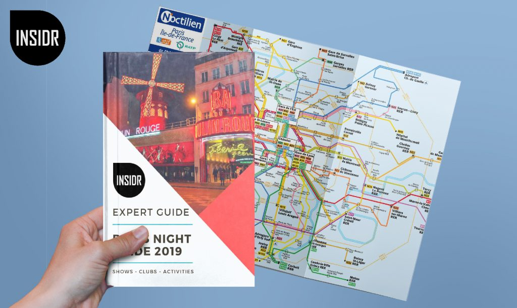 Paris Night Bus Map - INSIDR Paris Night Bus Map