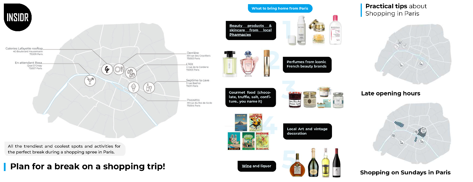 INSIDR Paris Shopping Guide - Paris Shopping Guide With Maps & Itineraries