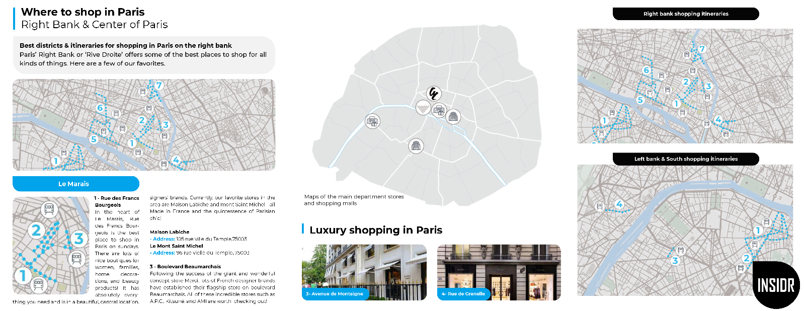 INSIDR Paris Shopping Guide - Best Stores & Neighbourhood For Shopping In Paris