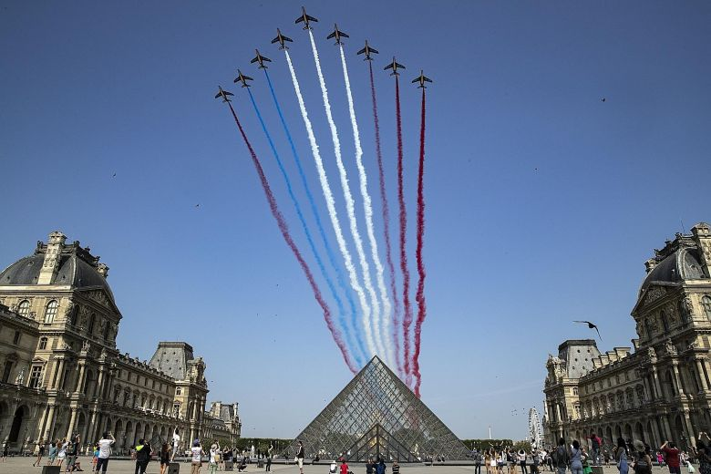 Bastille Day celebrations at the Louvre
