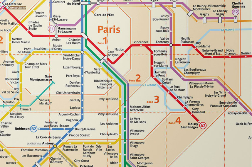 paris rer map