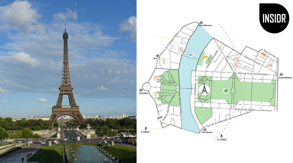 Eiffel Tower Map mock up