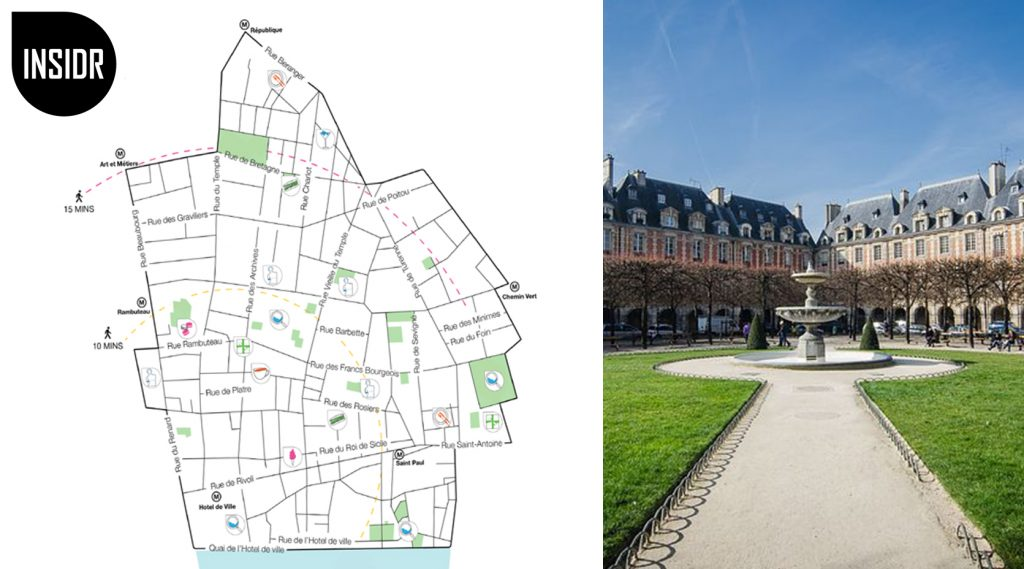Le marais paris map - preview