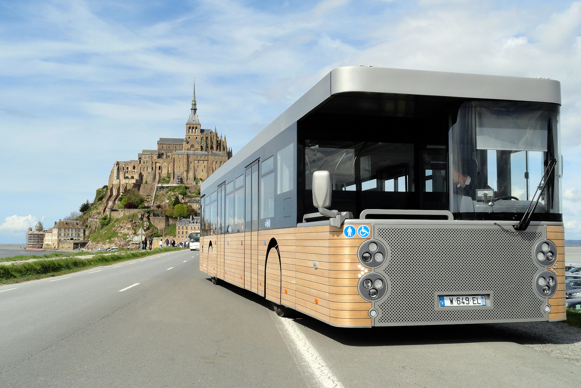 The Mont Saint Michel shuttle bus