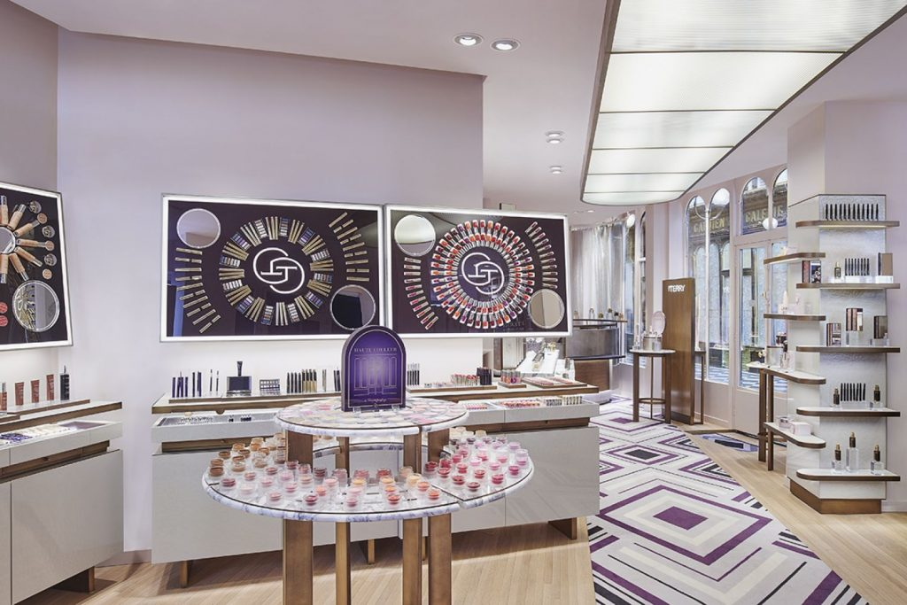inside the By Terry boutique in Paris