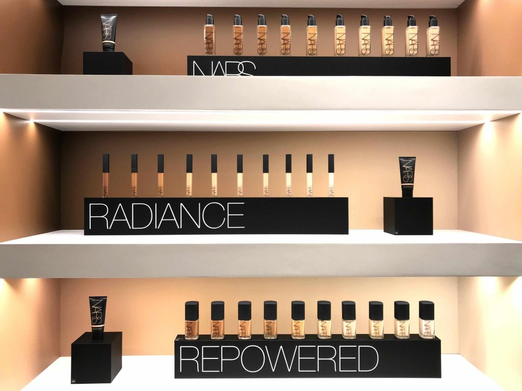 NARS-radiant repowered palette view at Galeries Lafayette Haussmann