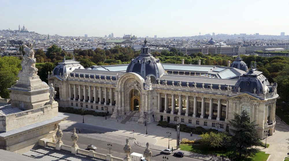 Petit Palais aerial shot - Free Museums in Paris