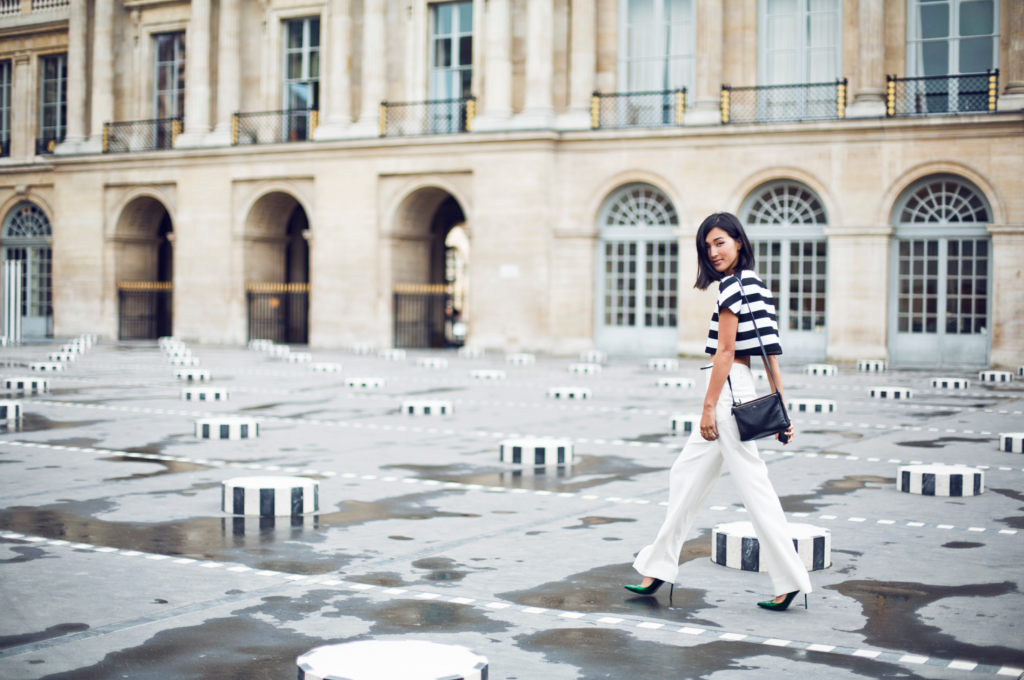 a photoshoot at Palais Royal