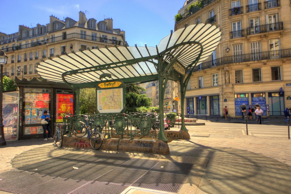 Chatelet Metro entrance in Paris