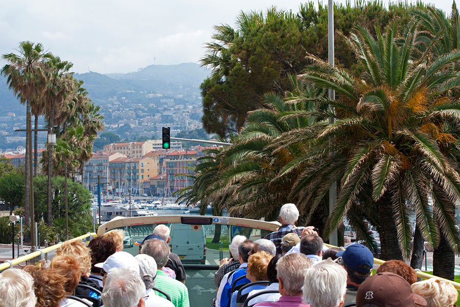 Open bus tour in Nice - Nice Old Town Map