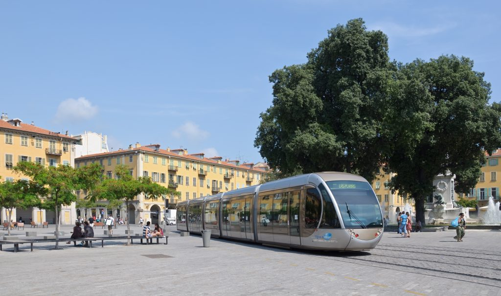 The tram line 1 in Nice, France