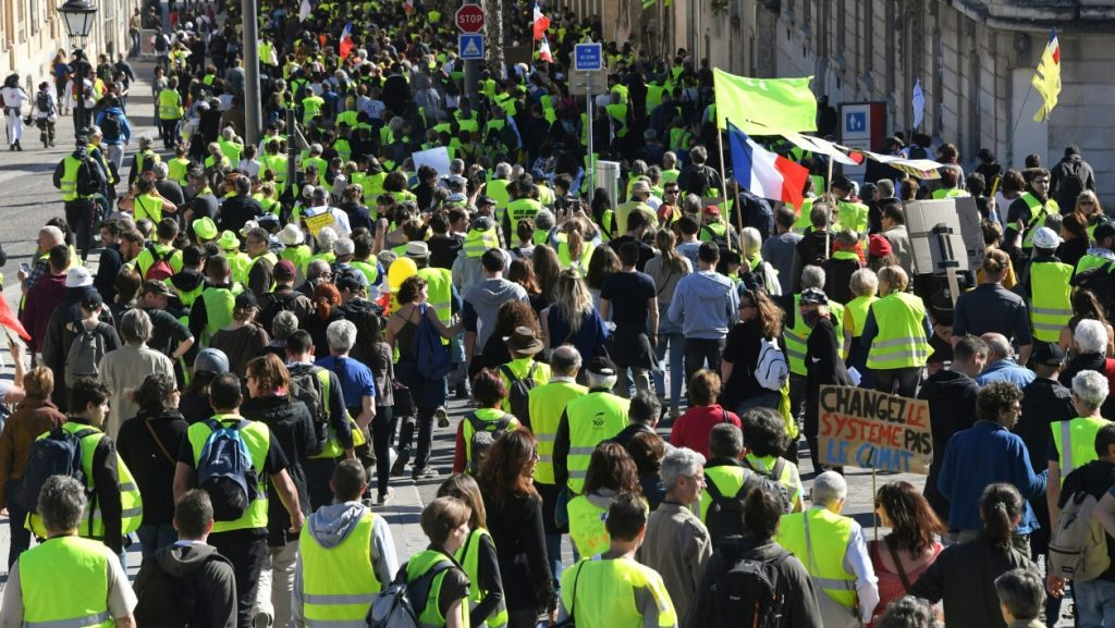 Yellow Vest protesters in Paris