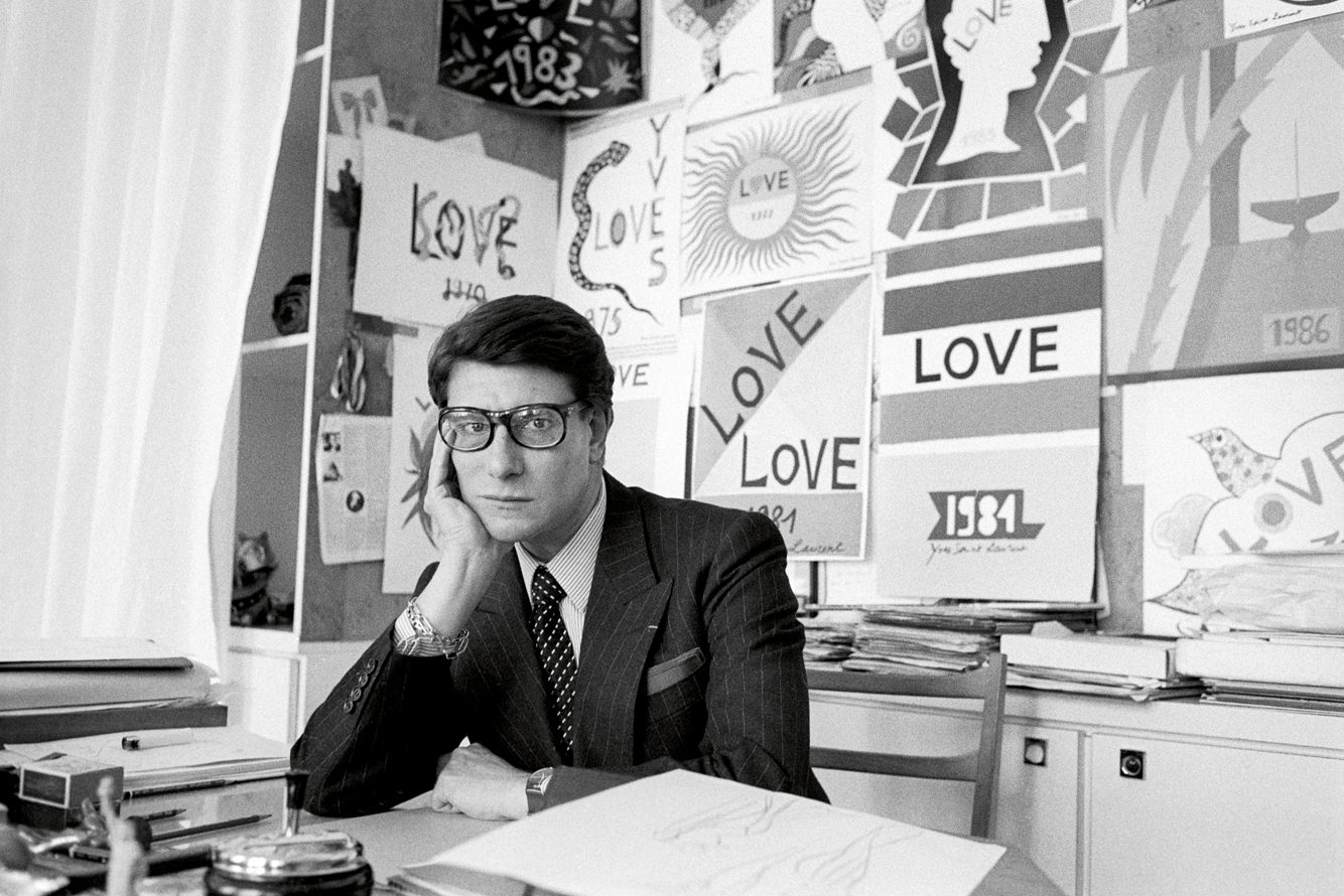 Yves Saint Laurent in his atelier
