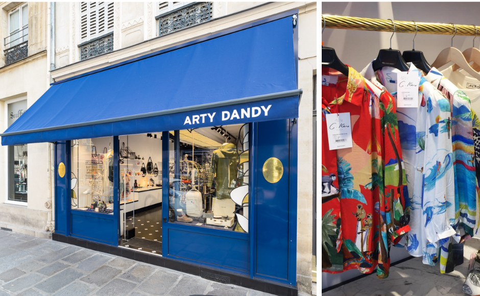 The shop front of Arty Dandy in Le Marais