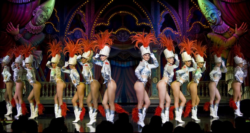 the Doriss Girls performing on stage at the Moulin Rouge