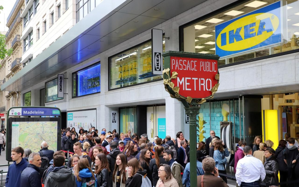 Ikea store in Paris's city centre
