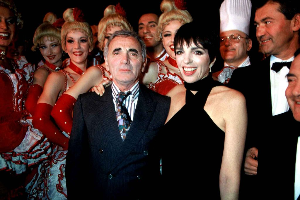 카바레 2 of the most famous artists that have performed at the Moulin Rouge: Liza Minelli and Charles Aznavour