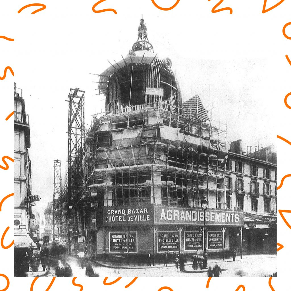the original construction of BHV in Le Marais