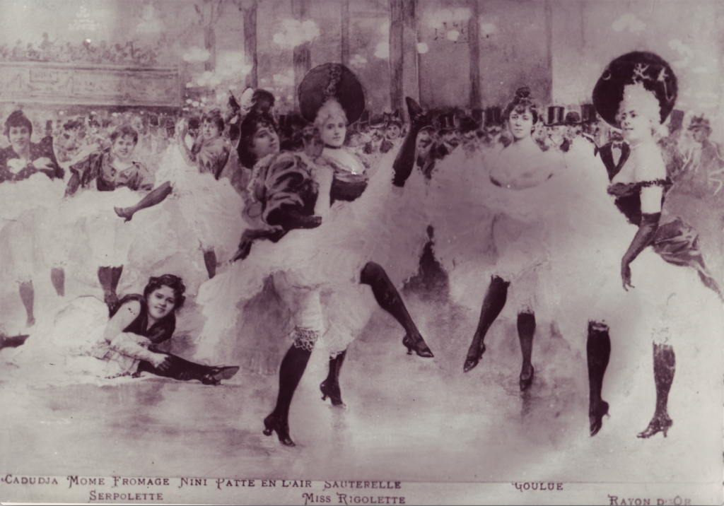 The first cancan dancers of the Moulin Rouge