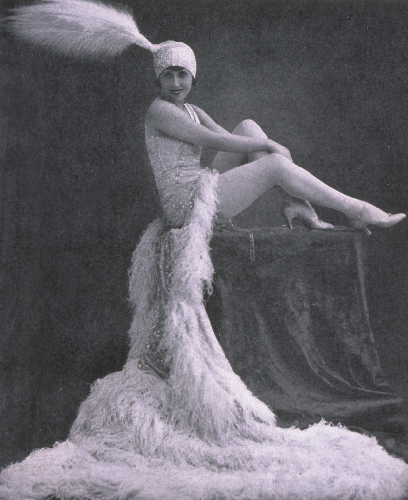 A portrait of the famous dancer Mistinguett