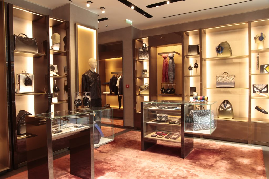 inside a boutique at BHV Marais